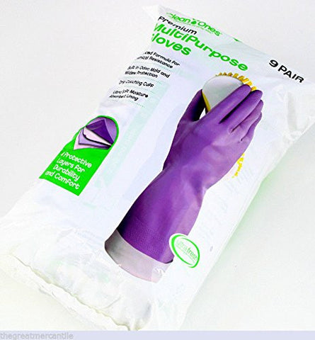 Clean Ones Premium Multi Purpose Rubber Gloves - Various Sizes Available - RokBuy - Office -