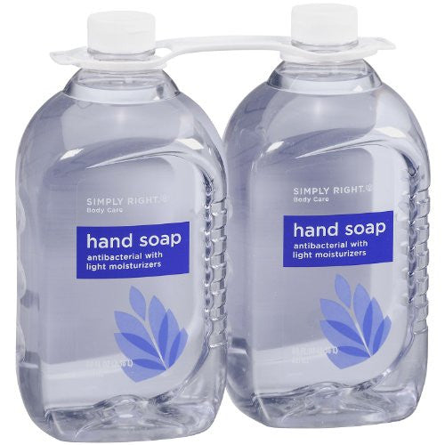 Members Mark, Simply Right Antibacterial Hand Soap, 80 Fl Oz-Blue - RokBuy - Beauty -