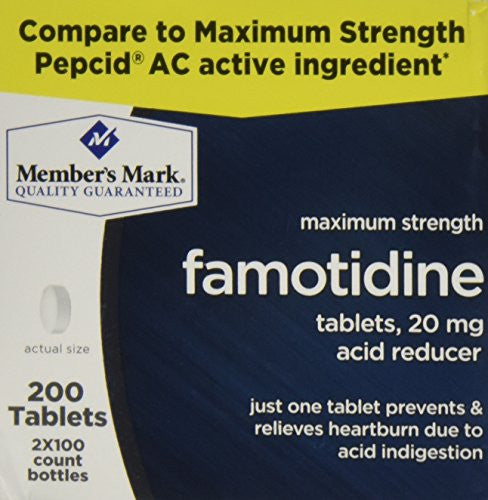 Member's Mark Maximum Strength 20mg Famotidine Acid Reducer - 200 Ct. - RokBuy - Health personal care -