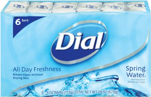 Dial Antibacterial Soap Bar, Spring Water, 4-Ounce Bars, 6-Count (Pack of 2) - RokBuy - Beauty -