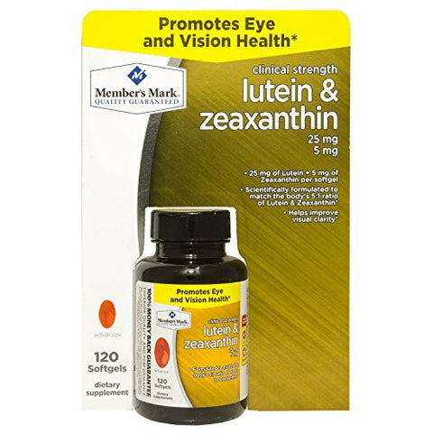 Member's Mark Lutein & Zeaxanthin Dietary Supplement (120 ct.) - RokBuy - Health personal care -