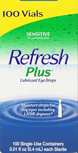 Refresh Plus, 100 Single Use Containers (2 Boxes) - RokBuy - Health personal care -