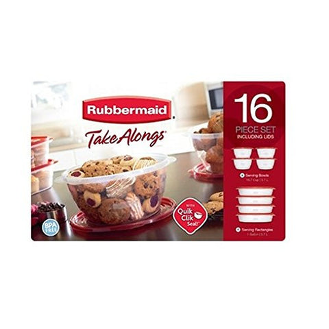 Rubbermaid TakeAlongs 16-Piece Food Storage Container Set Including Lids - RokBuy - Home -