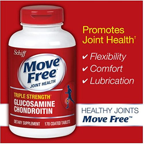 Schiff Move Free Advanced Triple Strength - 160 Coated Tablets - RokBuy - N/a -