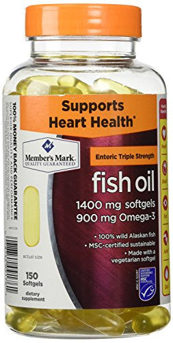 Members Mark Triple Strength Fish Oil 1400mg - 150 ct. - RokBuy - Health personal care -