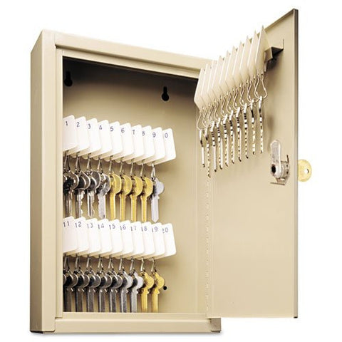 SteelMaster Locking Key Cabinet 30-Key Sand - RokBuy - Office -