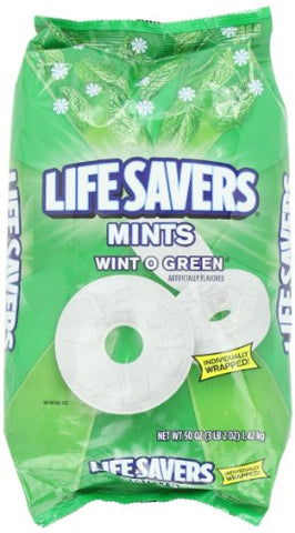 Lifesavers Wint-O-Green Bag, Individually Wrapped Candies - 50 Oz Bag - RokBuy - Food -