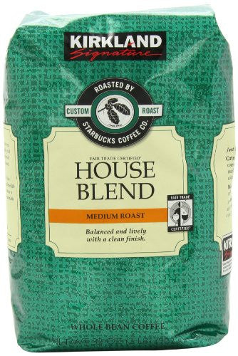 Kirkland Signature Roasted by Starbucks House Blend Whole Bean Coffee, Various Quantities - RokBuy - Food -