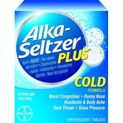 Alka-Seltzer Plus Cold Medicine tablets - Various Quantities available - RokBuy - Health -