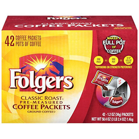 Folgers Classic Roast Ground Coffee Packets - RokBuy - Food -