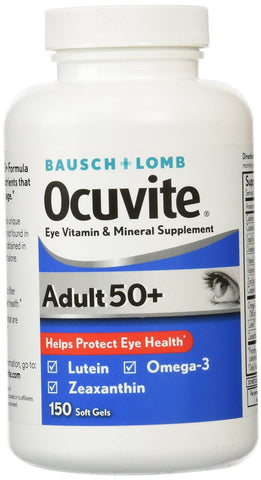 Bausch and Lomb Ocuvite Adult 50+ Eye Vitamine & Mineral Supplement - 150 Softgels - RokBuy - Health -  - 1