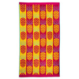 "Member's Mark Oversized Soft Beach Towel - 72"" x 40"" - (Various Designs) - RokBuy - Beach - Pineapple Pink/Yellow - 5"