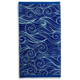 "Member's Mark Oversized Soft Beach Towel - 72"" x 40"" - (Various Designs) - RokBuy - Beach - Wave Swirls - 6"