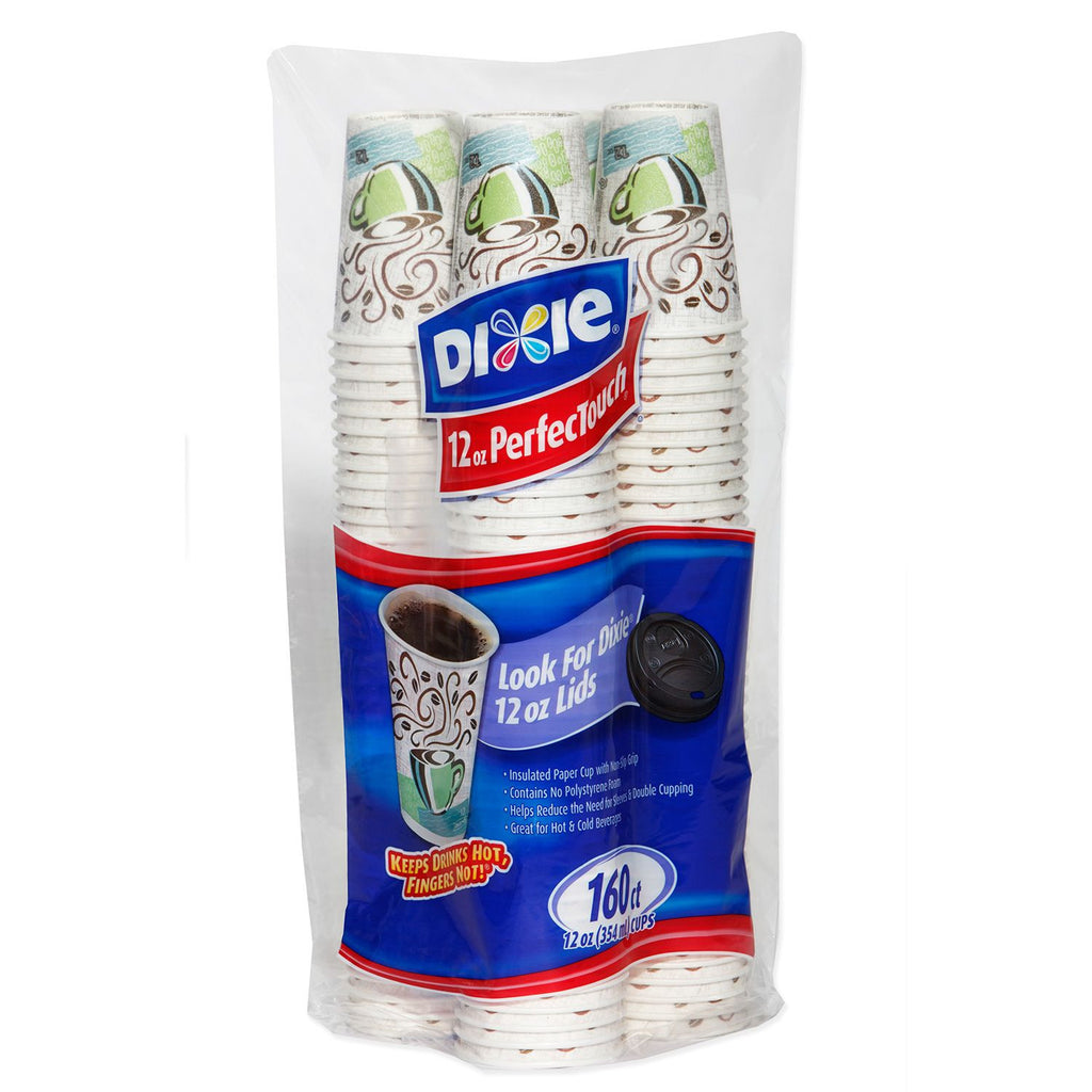 Dixie PerfecTouch Insulated Paper Cups, Coffee Haze, 12 oz  (160 ct )