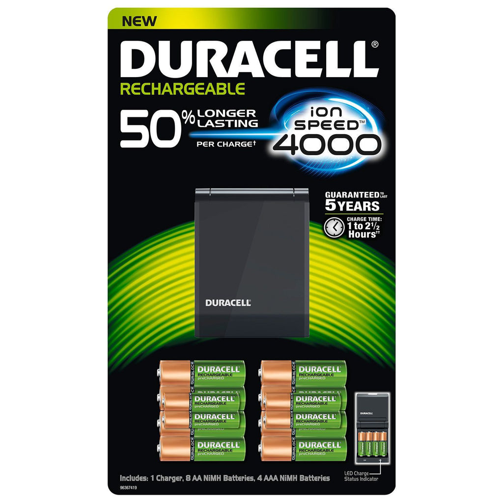 Duracell Ion Speed 4000 Battery Charger w/ Rechargeable AA and AAA Batteries - RokBuy - Home -