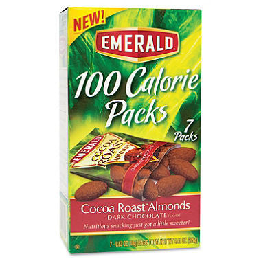 Emerald 100 Calorie Pack Dark Chocolate Cocoa Roast Almond, 3 Pack - RokBuy - Food -