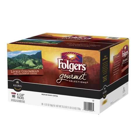 Folgers Gourmet Selections Coffee, Lively Colombian - RokBuy - Food -