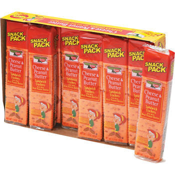 Keebler Cheese & Peanut Butter Sandwich Crackers (12 Count) - RokBuy - Food -