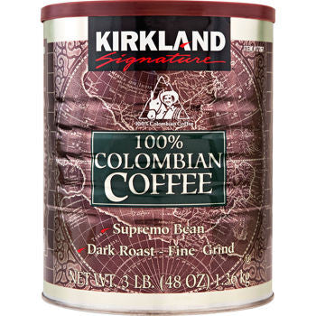 Kirkland Signature 100% Colombian Supremo Ground Coffee 3 lb, Various Quantities - RokBuy - Food -
