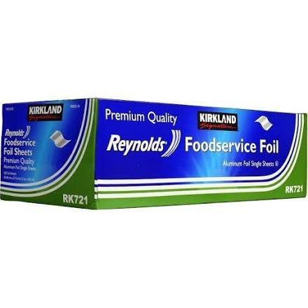 Kirkland Signature Reynolds Foodservice Foil Sheets-500 ct., Various Quantities - RokBuy - Food - 1 Pack - 1