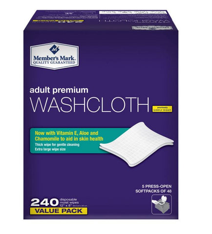 Member's Mark Adult Washcloths (240 ct) - RokBuy - Personal Care -