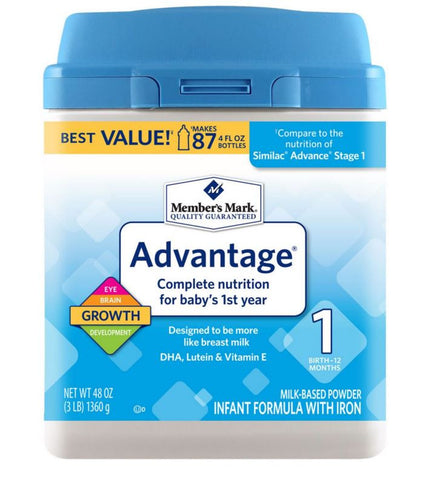 Member's Mark Infant Advantage Formula - RokBuy - Baby and Kids -