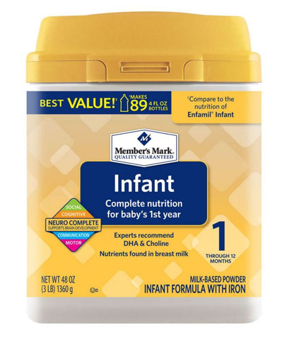Member's Mark Infant Formula - RokBuy - Baby and Kids -