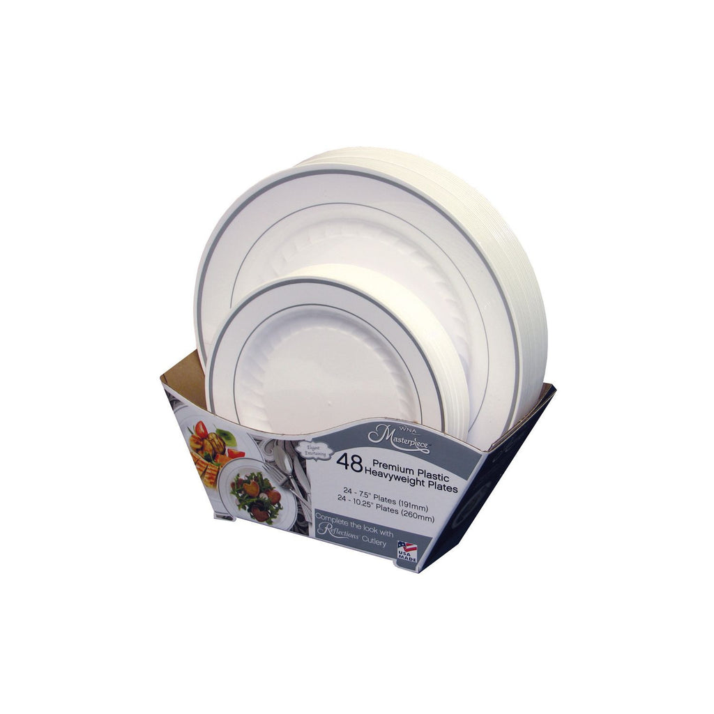Masterpiece Premium Plastic Heavyweight Plates (48 ct. Combo pk.) - RokBuy - Home -
