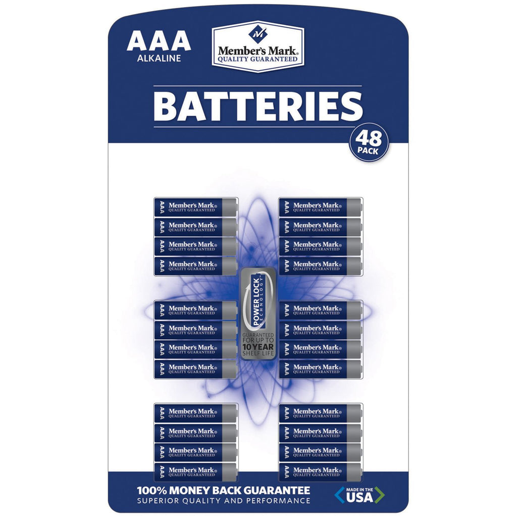 Member's Mark Alkaline AAA Batteries (48 Pk.) - RokBuy - Home -