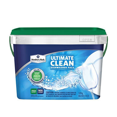 Member's Mark Ultimate Clean Automatic Dishwasher Pacs, 105 Count - RokBuy - Home -