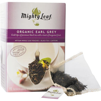 Mighty Leaf Whole Leaf Tea Bags Earl Grey, 15 Count (2 Pack) - RokBuy - Food -
