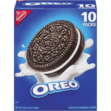 Nabisco Oreo Chocolate Sandwich Cookies, 10 Pack - RokBuy - Food -