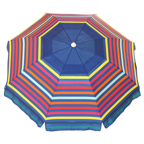 Nautica 7 Foot Sand Anchor & Carry Bag Beach Umbrella UPF 50+ - Various Color Options