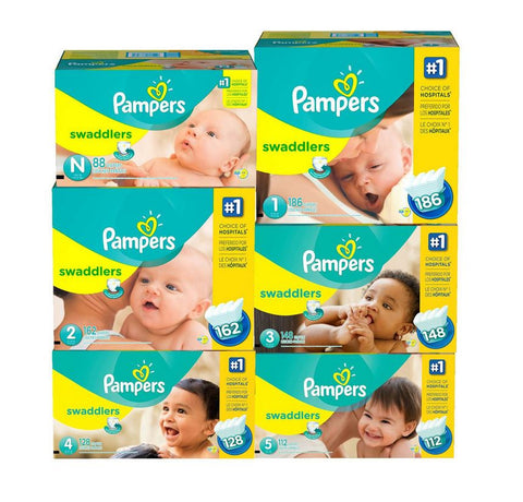 Pampers Swaddlers Diapers (Various Sizes) - RokBuy - Baby and Kids -