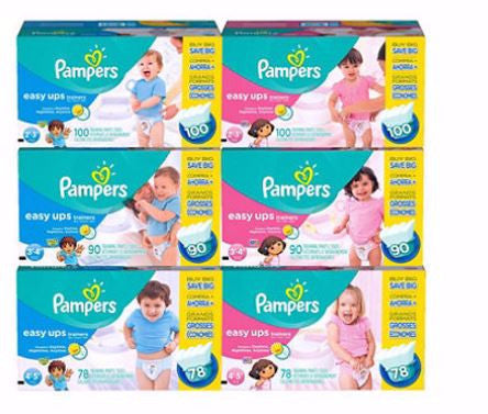 Pampers Easy Ups Training Pants for Girls (Various Sizes) - RokBuy - Baby and Kids -