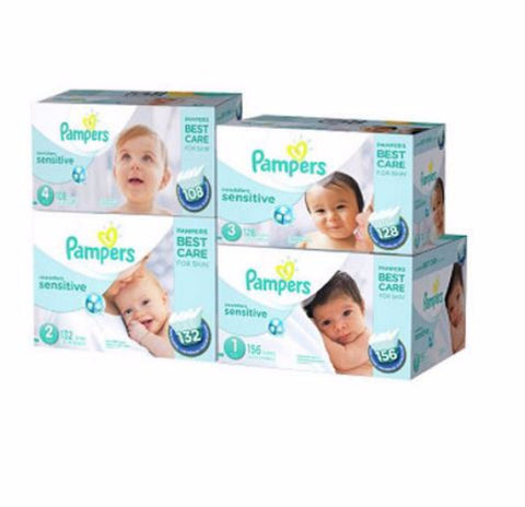 Pampers Swaddlers Sensitive Diapers (Various Sizes) - RokBuy - Baby and Kids -