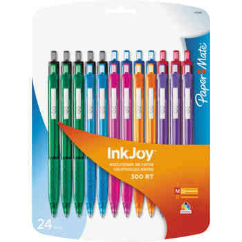 Paper Mate Inkjoy 300RT Retractable Ballpoint Assorted 24-ct - RokBuy - Office -