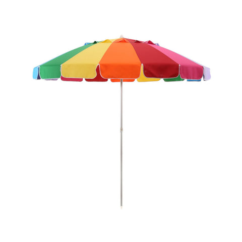 Rainbow 8' Beach Umbrella w/Tilt - RokBuy - Beach -  - 1