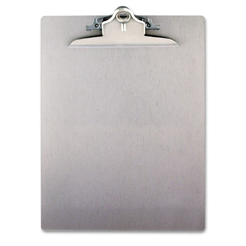 "Saunders Aluminum Clipboard with 1"" Capacity Clip, Holds 8 1/2 x 12 , Silver - RokBuy - Office -"