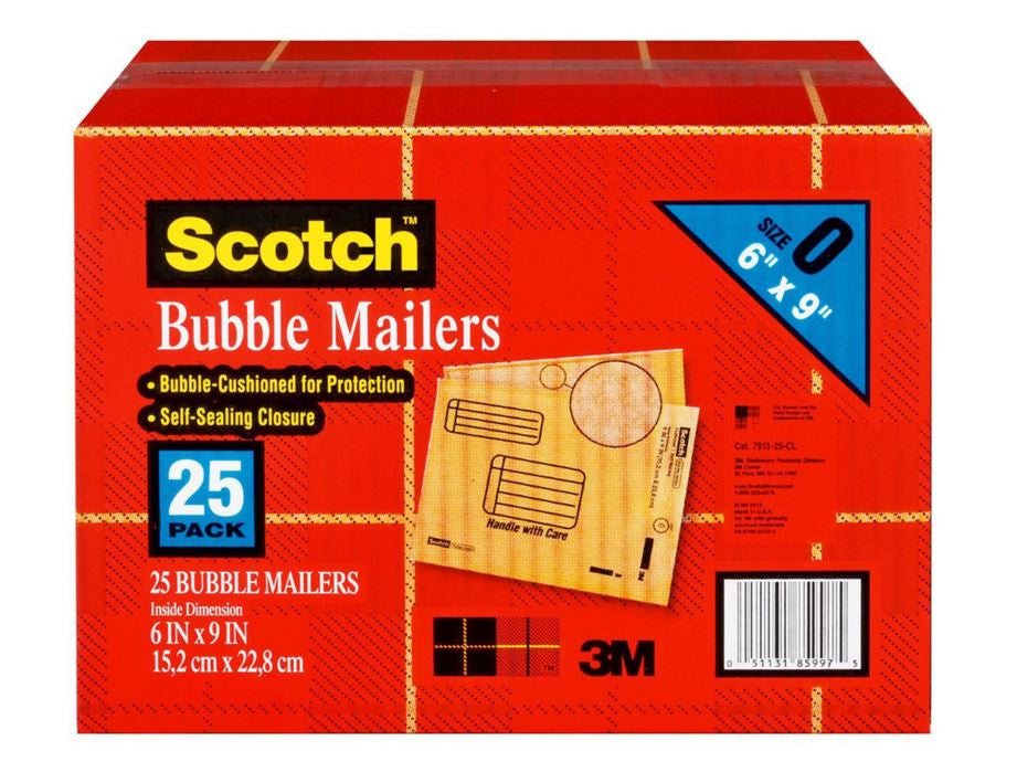 Scotch Bubble Cushioned Self-Sealing Mailers (Various Sizes Available) - RokBuy - Office -  - 1