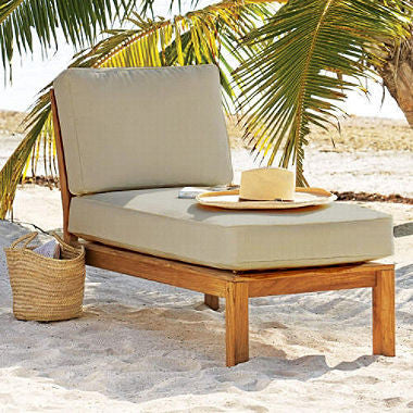 Teak Sectional Lounger with Cushion - RokBuy - Patio and Outdoor -