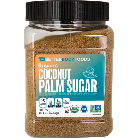 BetterBody Organic Coconut Palm Sugar, 1.5LBS