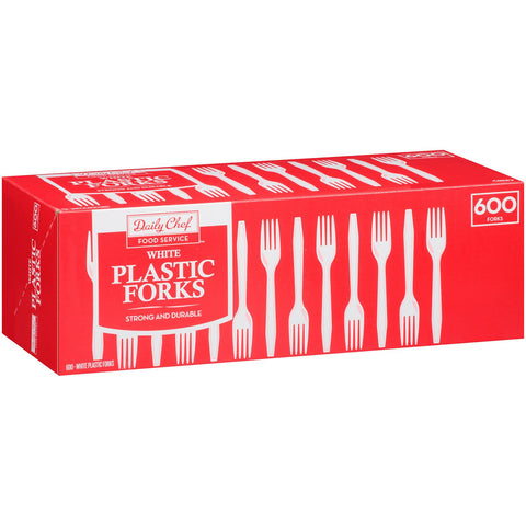 Daily Chef Plastic Forks - 600 ct. - RokBuy - Home -