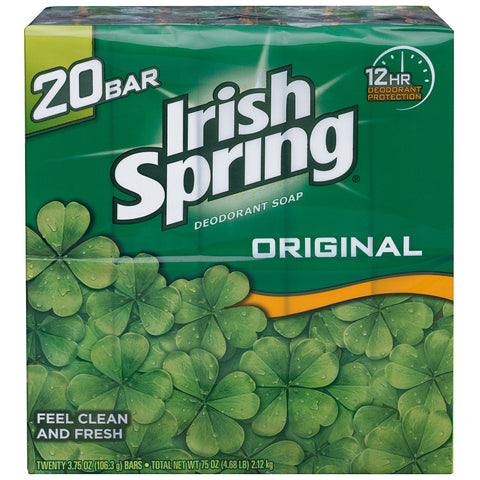 Irish Spring Deodorant Soap - 3.75 oz. - 20 ct. - RokBuy - Office -