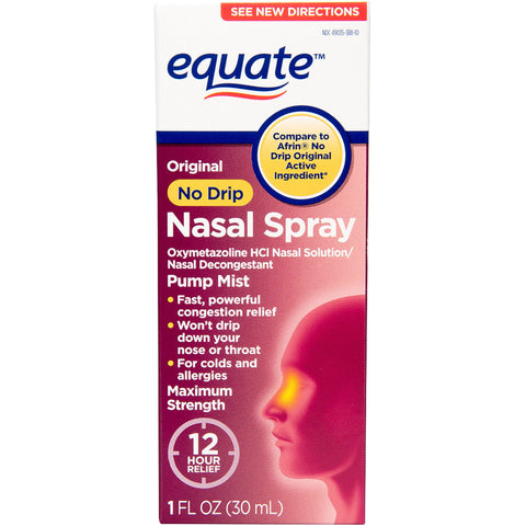 Equate - Nasal Spray, No Drip Original, 1oz - Various Quantities Available - RokBuy - Health -