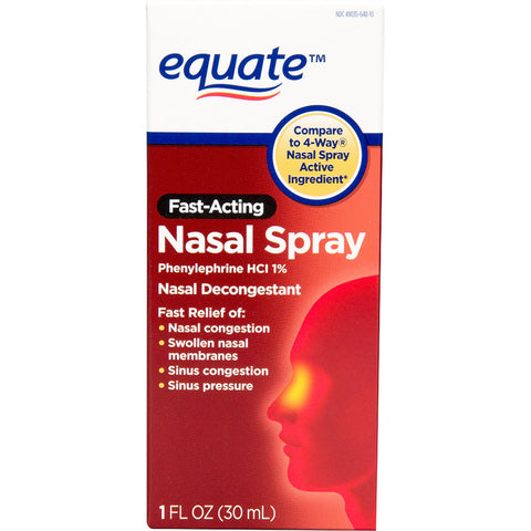 Equate - Fast Acting Nasal Spray, 1 fl oz - RokBuy - Health -