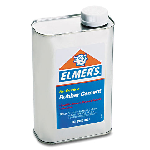 Elmer's® Rubber Cement - 1 qt. - RokBuy - Office -
