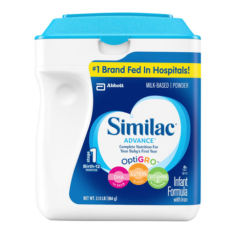 Similac Advance Infant Formula with Iron, Stage 1 (34 oz.) - RokBuy - Baby and Kids -