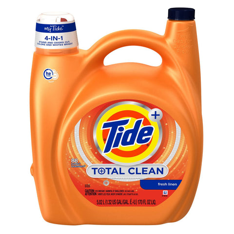 Tide Liquid HE Total Clean (88 Loads, 170 oz.) - RokBuy - Office -