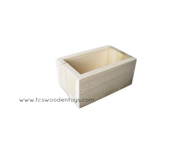 Wood toy feed trough for pretend play - mini crate